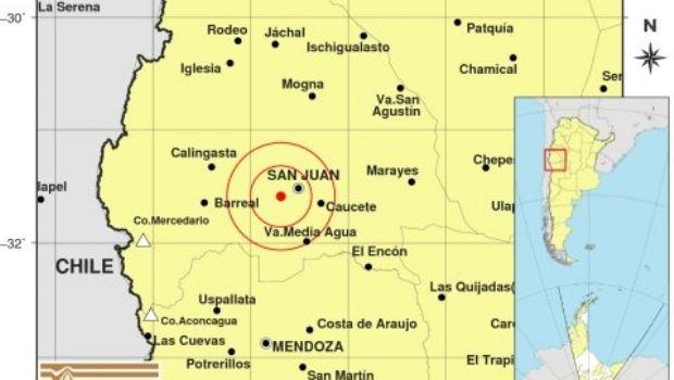 Un sismo se registró en San Juan en los primeros minutos de este miércoles