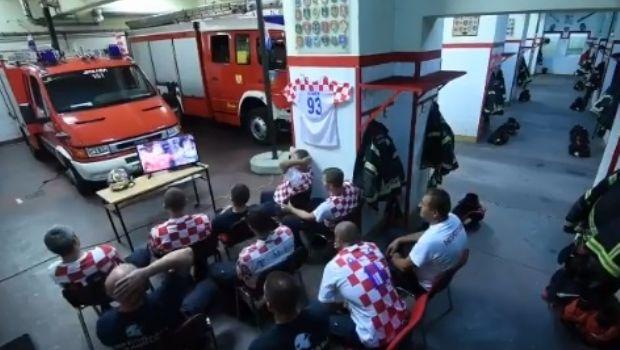 Así reaccionaron los bomberos cuando sonó la sirena mientras veían el Mundial de Rusia