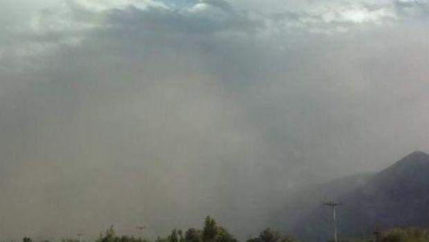 Rige un alerta por vientos intensos en la zona precordillerana en San Juan
