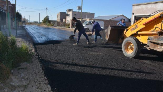 Rivadavia: iniciaron las obras de pavimentación en el Barrio Olivares de Natania