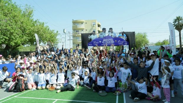 Más de 500 chicos participaron del Kids Day de tenis