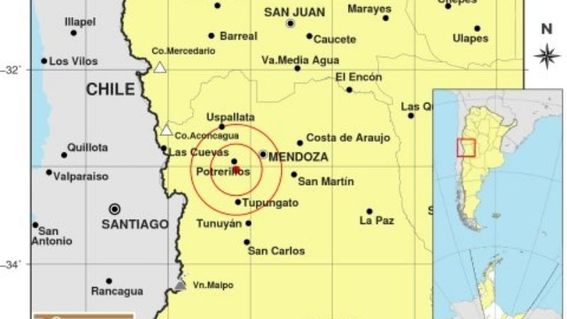 Un sismo superficial movió el norte de Mendoza