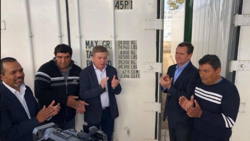 Cadena de valor minera: inauguraron 4 cámaras de frío y un invernadero para los productores de Jáchal