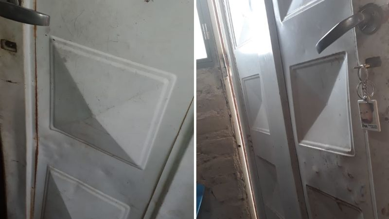 Le rompieron la puerta e ingresaron a robar: se llevaron joyas, una netbook y hasta los cuchillos grandes