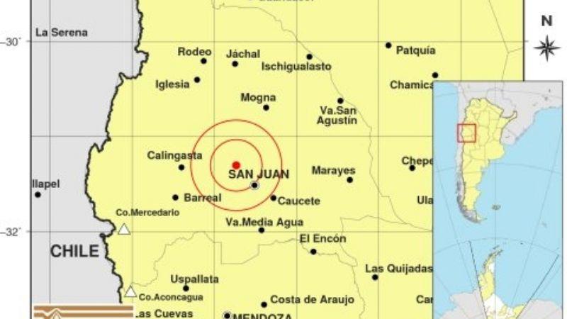 Un fuerte sismo sacudió al Gran San Juan este miércoles