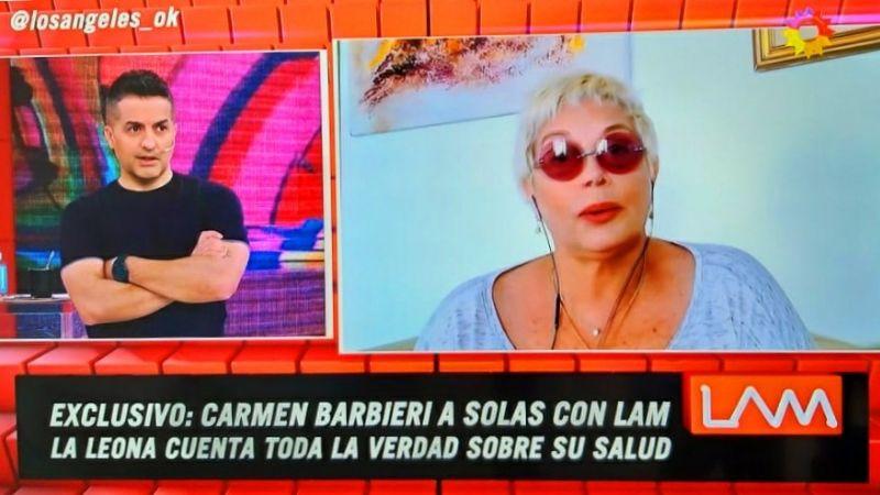 """Carmen Barbieri, hisopada: """"creo en los médicos terrenales y del cielo"""""""