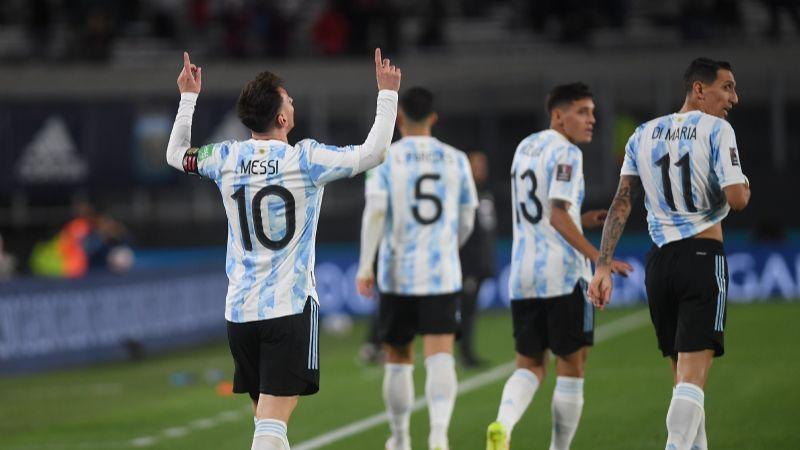 La Selección Argentina, una fiesta con 3 goles de Messi ante Bolivia